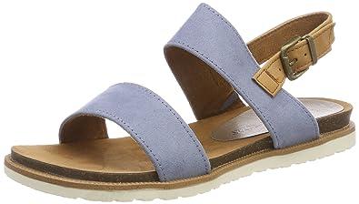 MARCO TOZZI Damen 28402 Slingback Sandalen, Blau (Azure Comb), 38 EU 2af8dedfe1