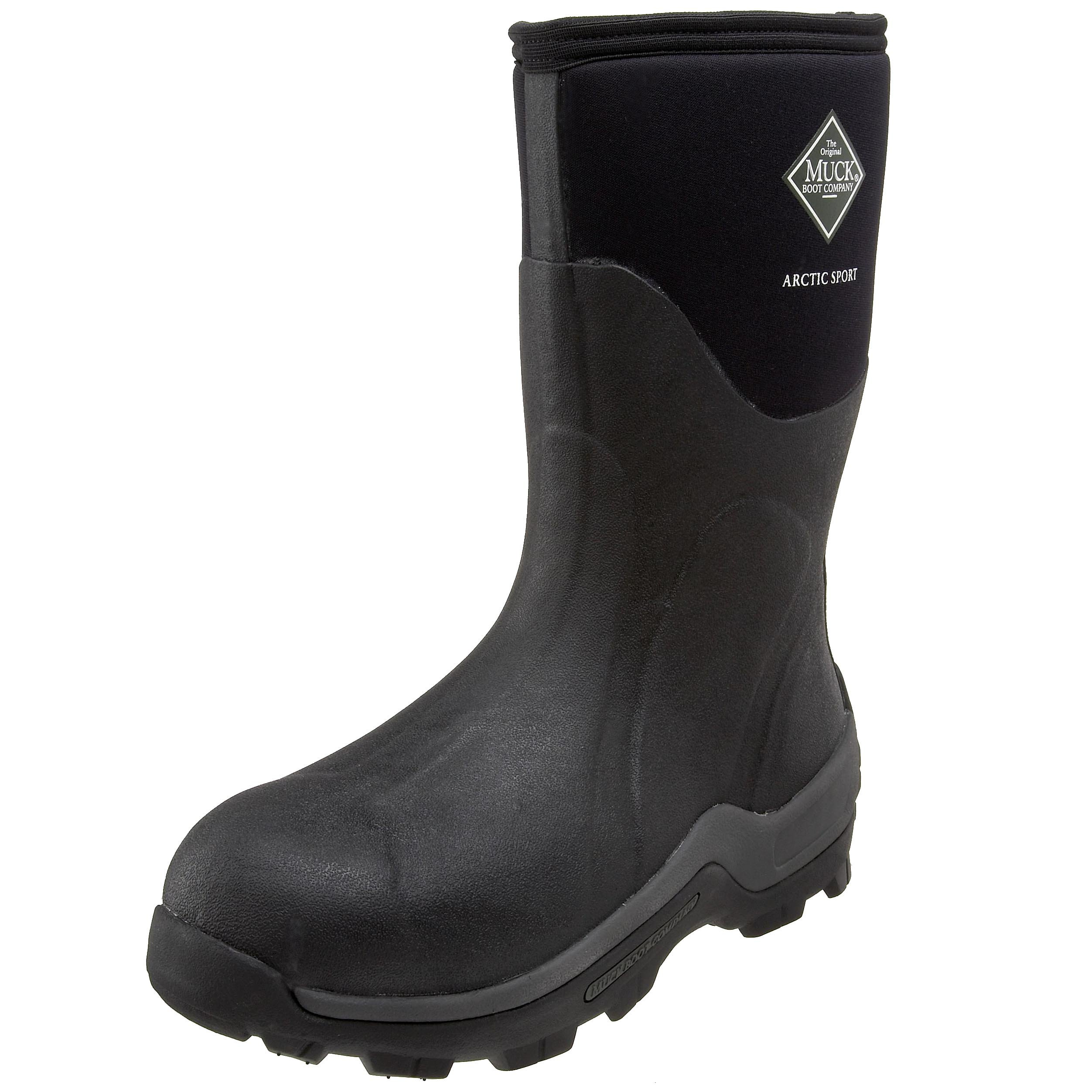 The Original MuckBoots Arctic Sport Mid Outdoor Boot,Black,12 M US Mens/13 M US Womens