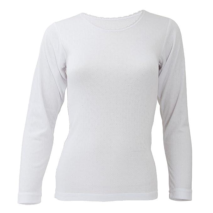 Floso- Camiseta Interior de Manga Larga térmica para Mujer (Gama estándar): Amazon.es: Ropa y accesorios