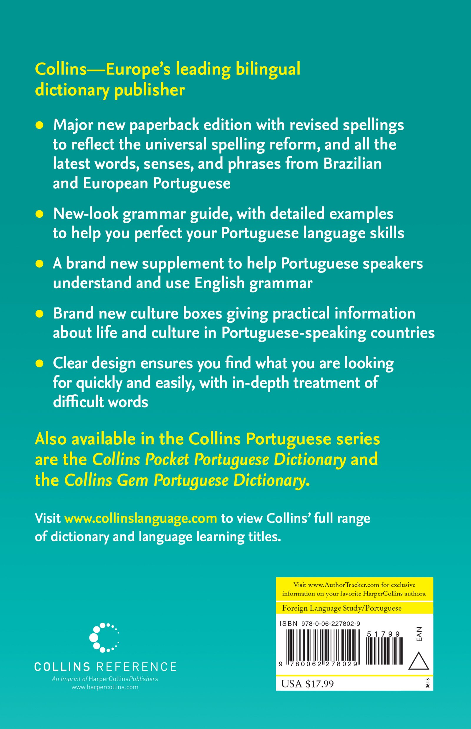 Collins Portuguese Dictionary & Grammar: Amazon.co.uk: Harpercollins  Publishers Ltd: 9780062278029: Books
