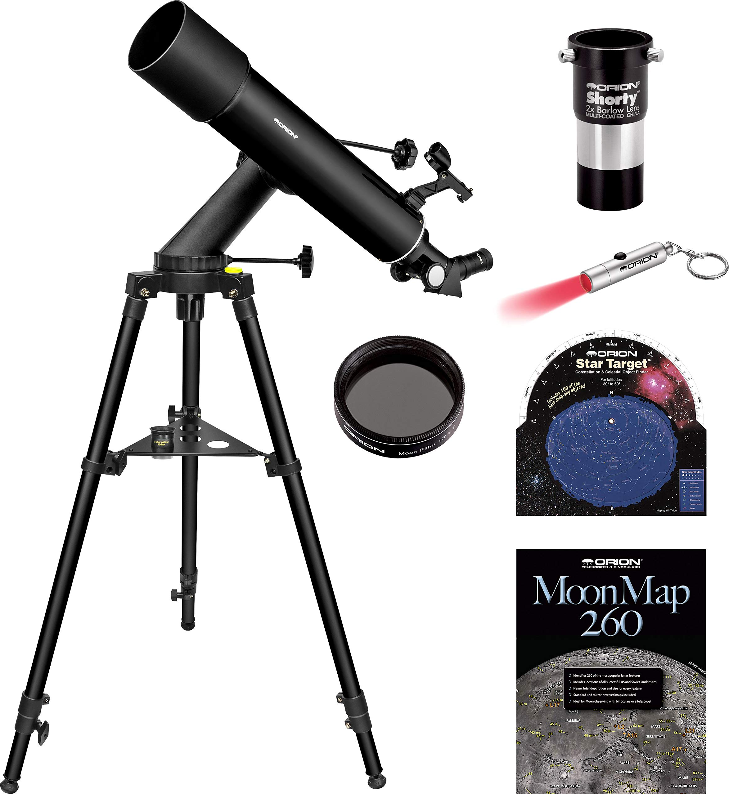 Orion VersaGo E-Series 90mm Altaz Refractor Telescope Kit by Orion