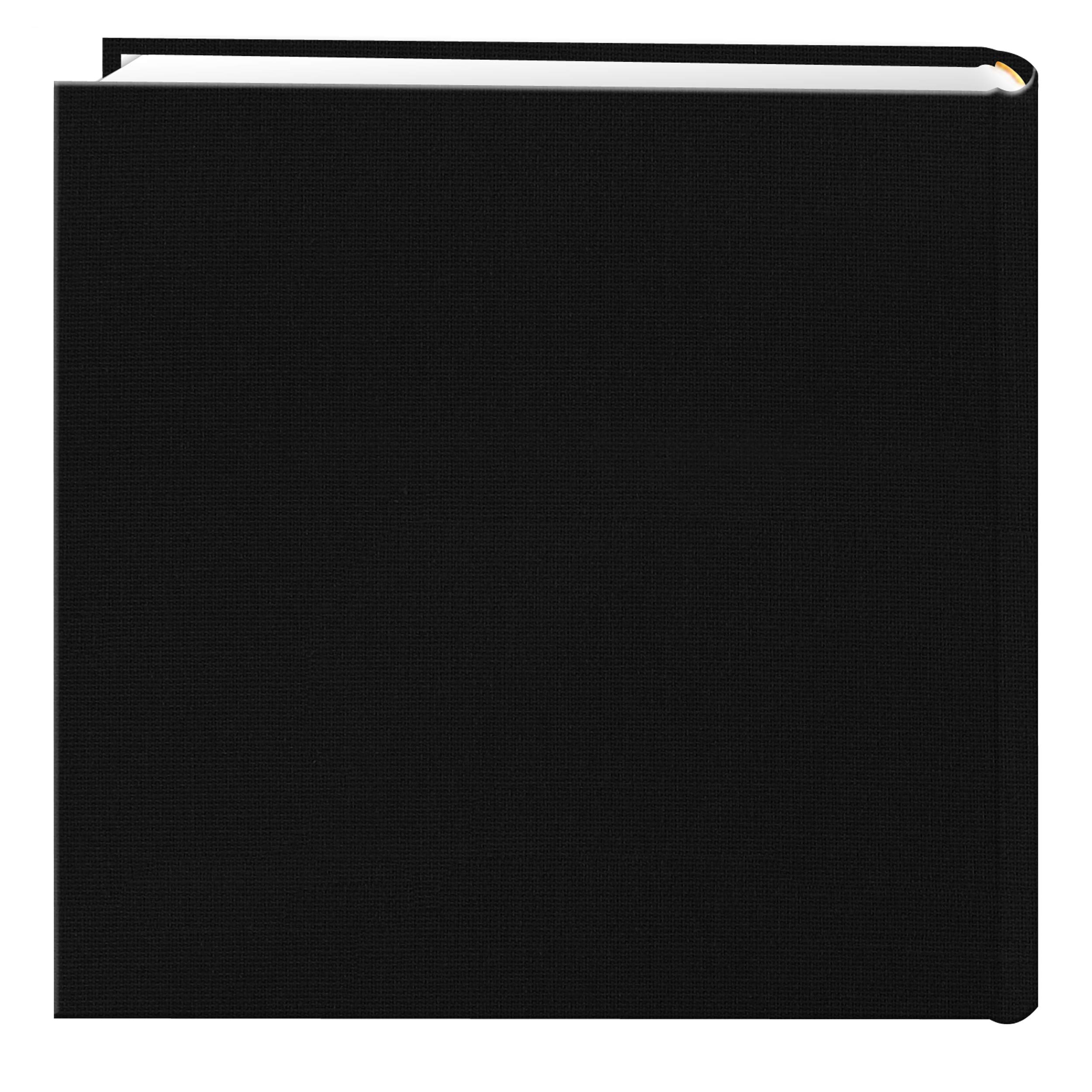 Fabric Frame Cover Photo Album 200 Pockets Hold 4x6 Photos, Deep Black by Pioneer Photo Albums (Image #2)