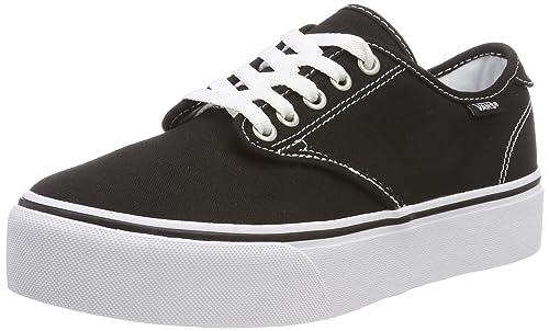 Vans Camden Platform, Zapatillas para Mujer, Negro ((Canvas) Black/White 187), EU: Amazon.es: Zapatos y complementos