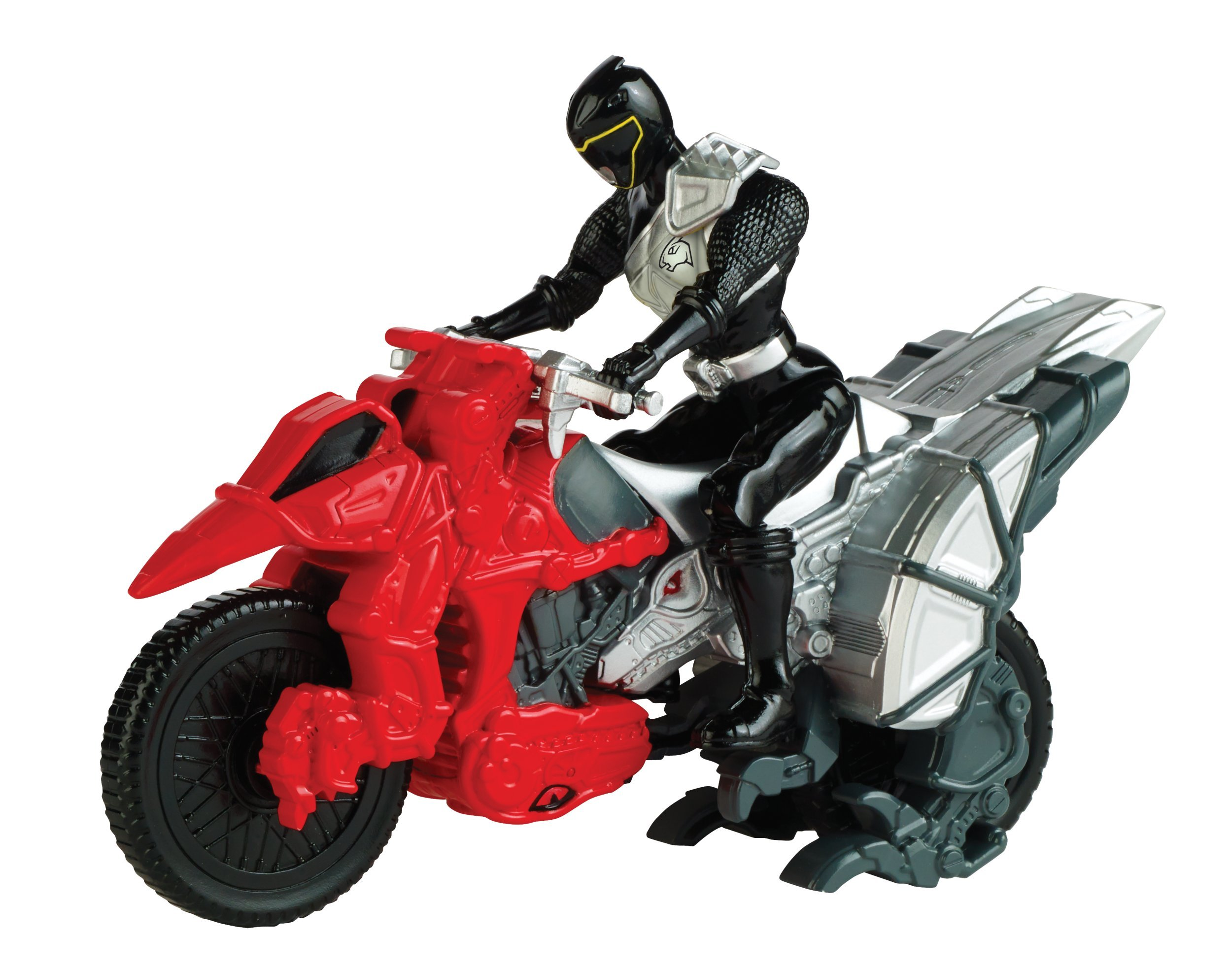 """Power Rangers Dino Charge - Dino Cycle with 5"""" Black Ranger Action Figure"""