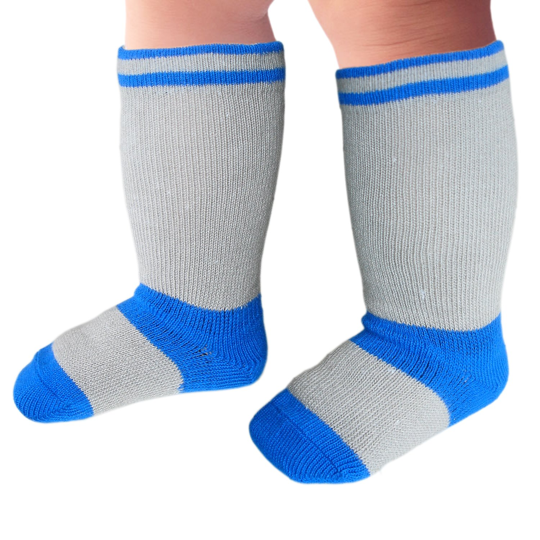 JHosiery Calcetines hasta la rodilla bebés niño costura plana para pies sensibles