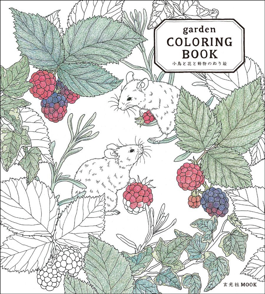 Amazon.com: garden COLORING BOOK (9784768305911): Mihoko \