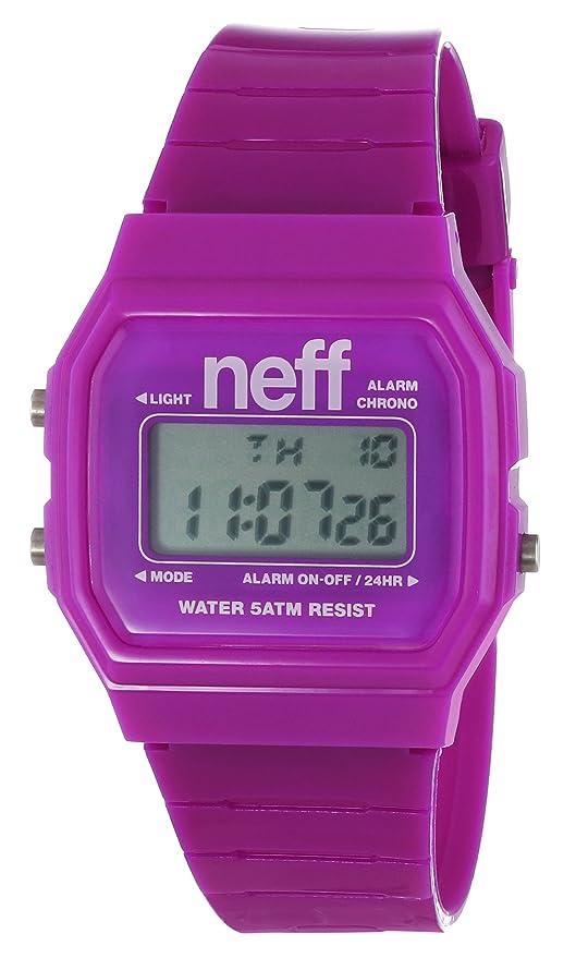 Neff NF0204PRPL - Reloj digital unisex, correa de plástico color púrpura