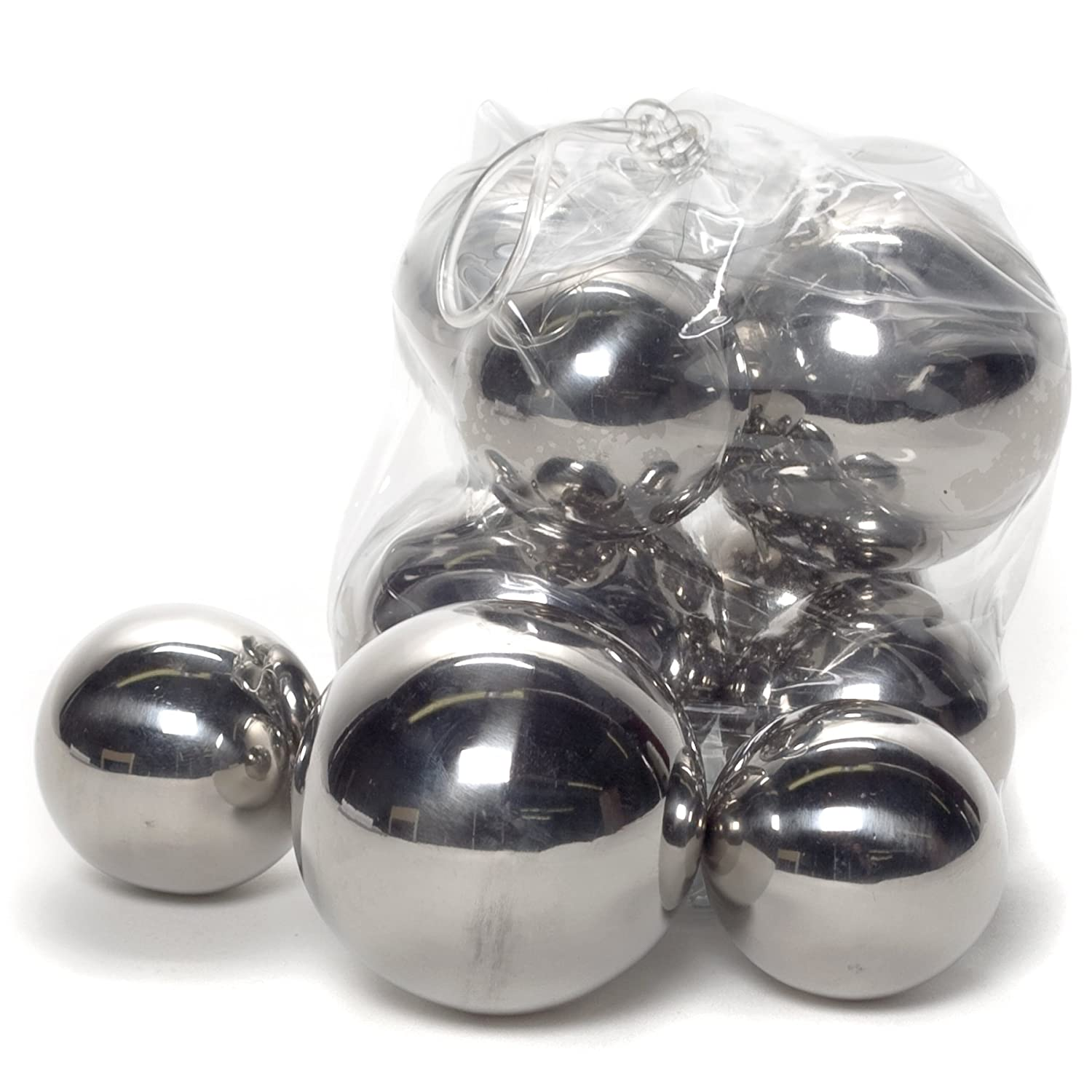 Amazon.com: Abbott Collection Assorted Stainless Steel Decorative ...