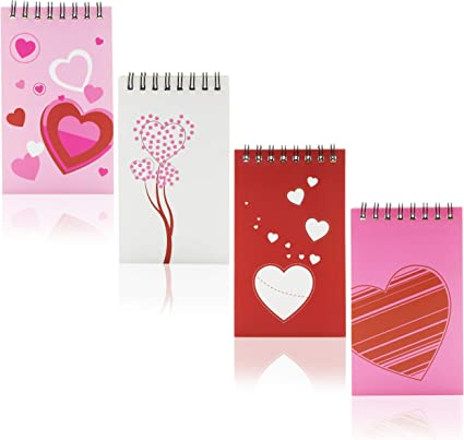 Espiral Bound Notebook – 24-Pack Mini blocs de notas, día de San Valentín regalos de fiesta de bolsillo portátil, blocs de notas para niños, ideal, varios diseños, 3 x 5 pulgadas: Amazon.es: