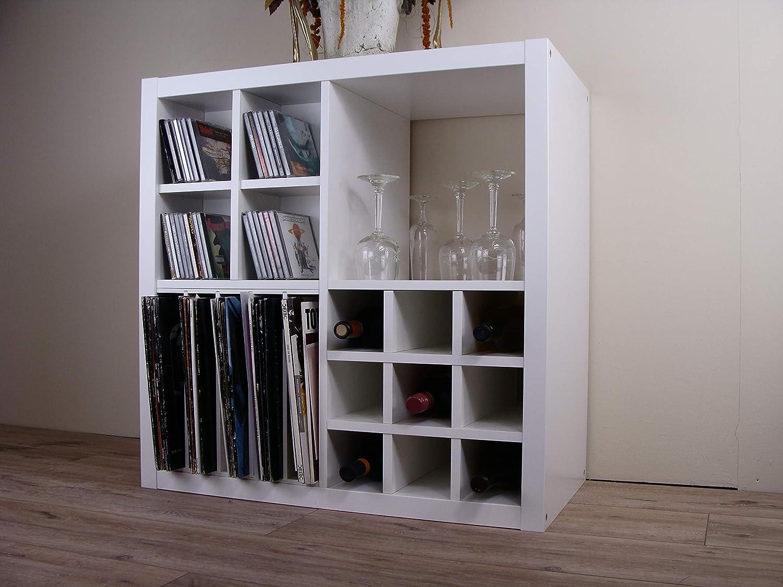 HKF Ilse Botella Estante para IKEA Kallax (Color Blanco con ...