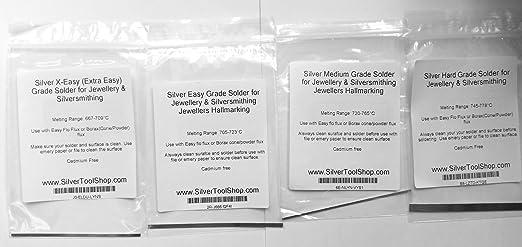 Silver Easy Grade Solder for Jewellery /& Silversmithing Jewellers Hallmarking