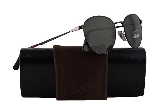 6d831b717b Amazon.com  Persol PO2445S Sunglasses Black w Green Lens 52mm 107831 ...