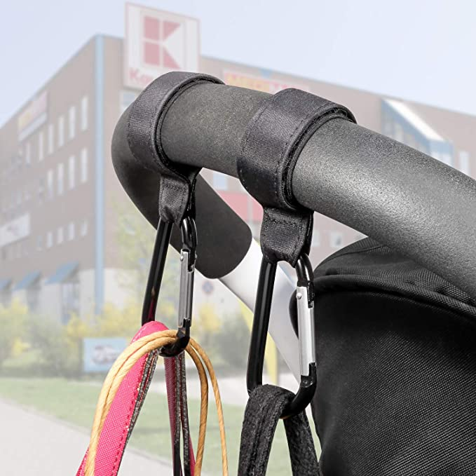 Canjerusof Cochecito Gancho 2 Multi Pack de Gancho de la suspensi/ón de Bolsas para pa/ñales Gran Almacenamiento en Rack de Accesorios para Caminar o IR de Compras # 5 Decoraci/ón