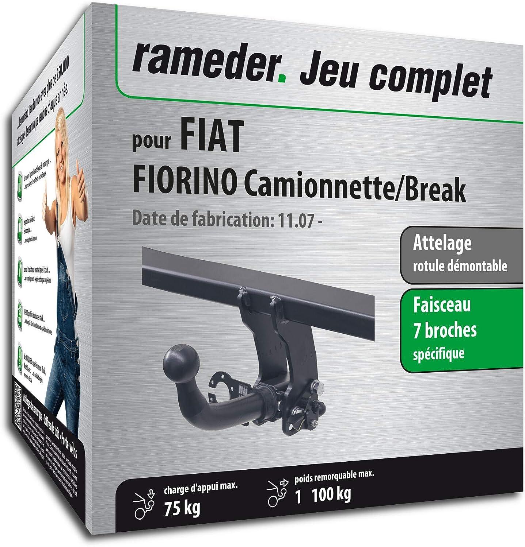 135438-07383-4-FR Faisceau 7 Broches Rameder Attelage rotule d/émontable pour Fiat FIORINO Camionnette//Break
