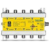 TechniSat 5/1x 4technirouter numérique einkabel Solution pour 4récepteurs Argent/Jaune (4signaux sur un câble, cable Uni)