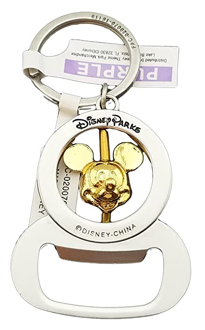 Amazon.com  Disney Parks Keychain - Bottle Opener Spinning Mickey Mouse  Head  Automotive 19cd8c79d3c7