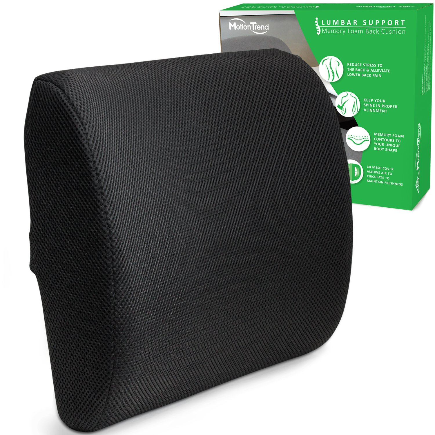Magic Back Support Lumbar Support Cushion & Pillow For Office Chair & Car