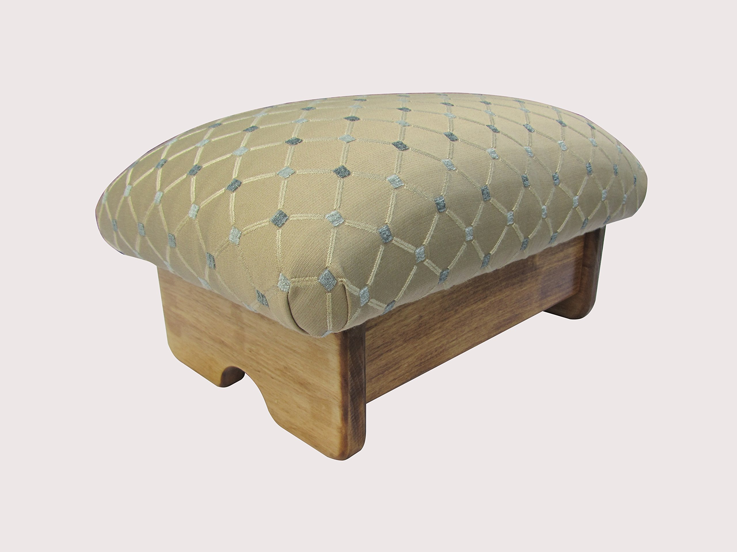KR Ideas Padded Foot Stool Queen's Favorite (Made in the USA) (9'' Tall - Maple Stain) by KR Ideas