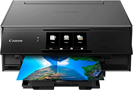 Canon TS9120 Wireless All-in-One Printer with Scanner and Copier: Mobile and Tablet Printing, with AirPrint and Google Cloud Print Compatible, Black, ...