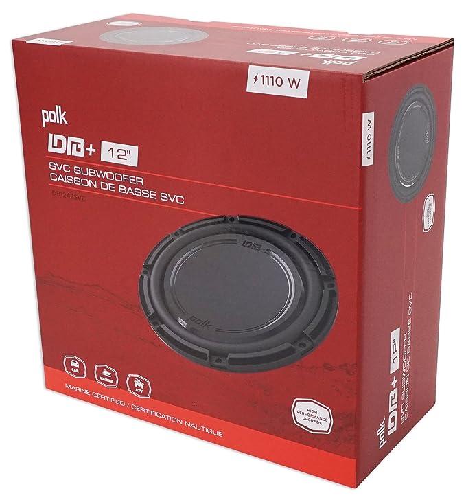 Amazon.com: Polk Audio DB1242SVC 12 1110 Watt Single 4-Ohm Car Audio Subwoofer Sub+Speaker: Car Electronics