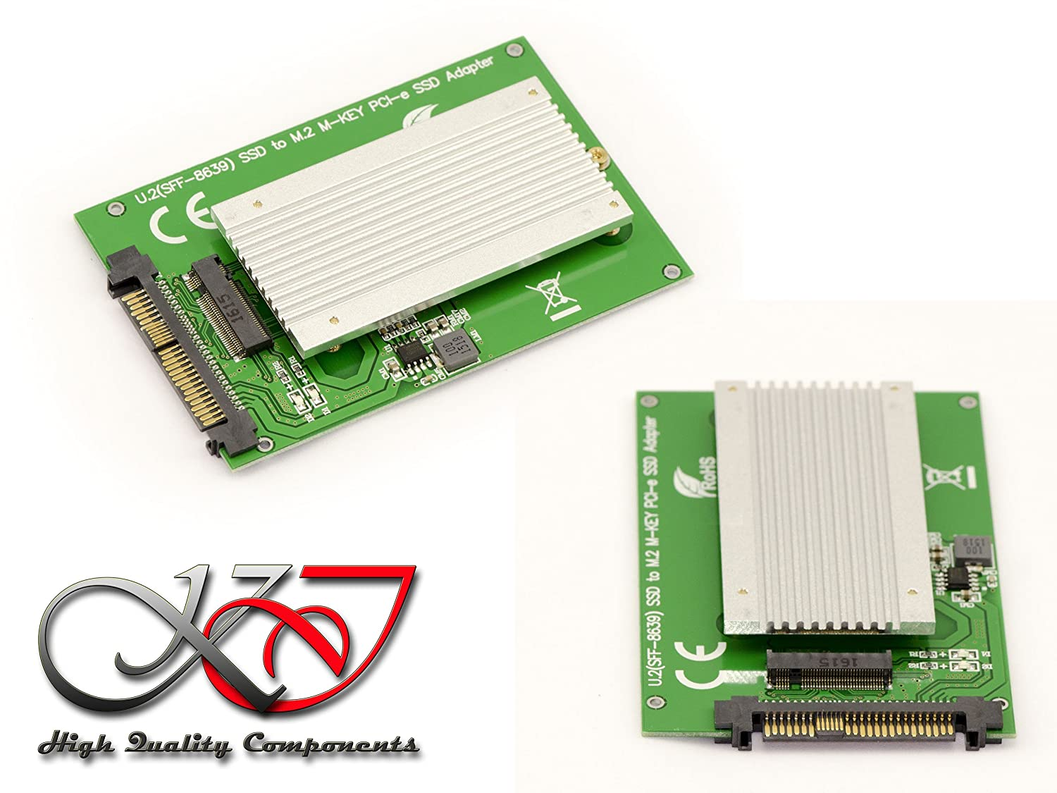 Kalea-Informatique /© Adapter Converter M2 PCIe M Key to U2 for Mounting an M.2 Gen 3.0 NVMe SSD instead of a U.2 SSD With Heater 68Pin SFF-8639