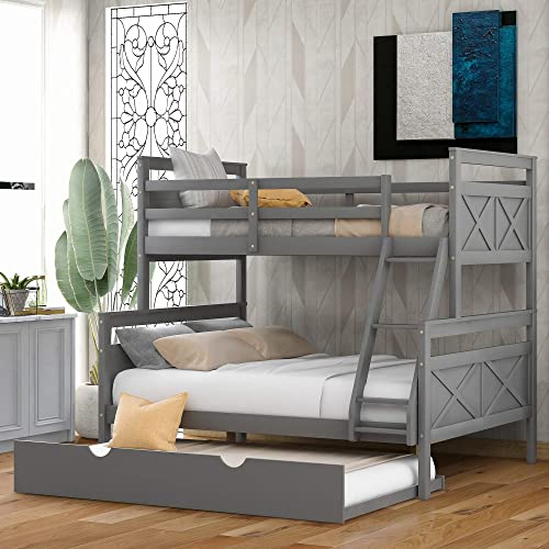 Harper Bright Designs Bunk Bed,Bunk Bed Twin Over Full Size