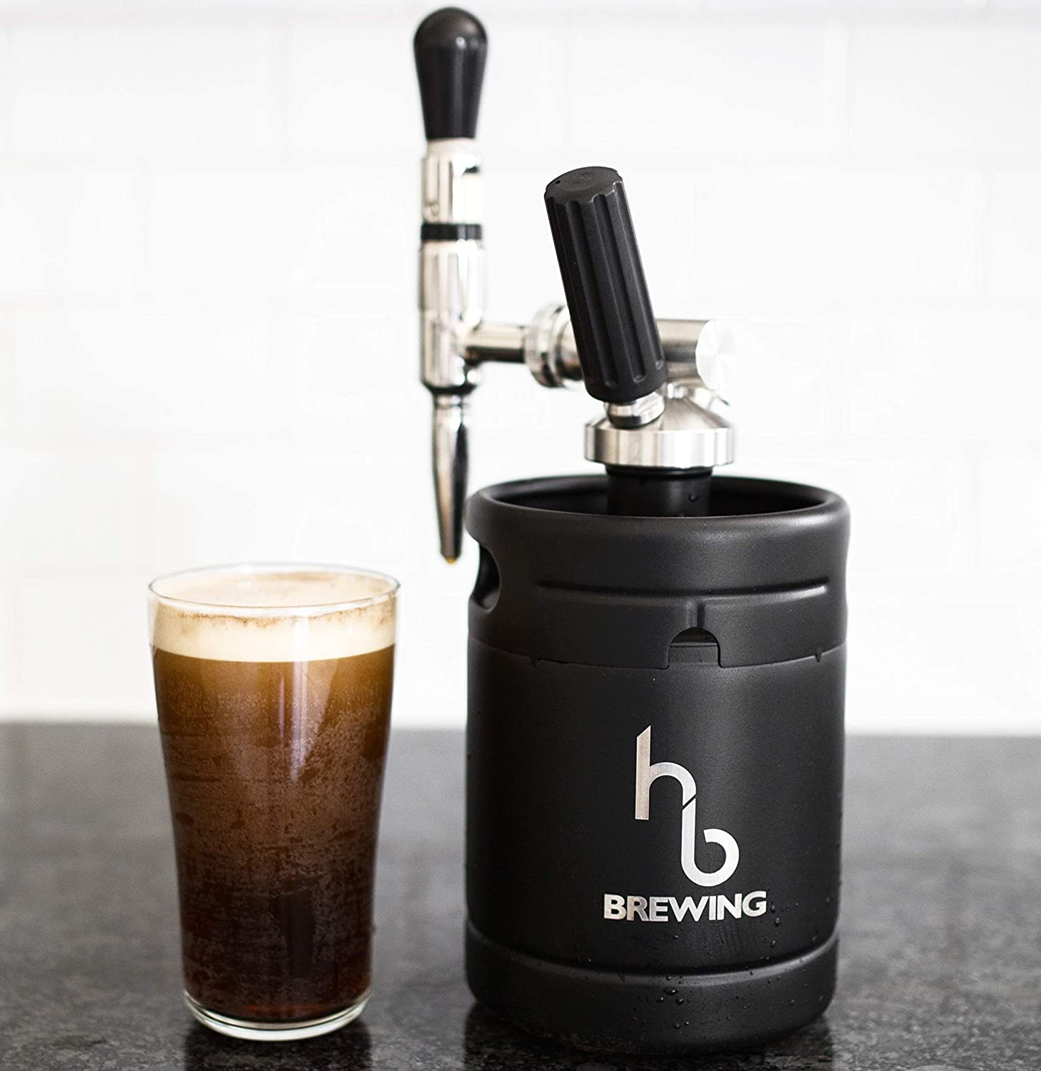 Nitro Cold Brew Coffee Maker Mini Keg Dispensing System – Home Brew Kit – by HB Brewing