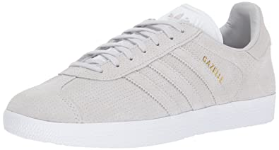 adidas Originals Gazelle Sneaker,Grey ONE/Grey ONE/Metallic Gold,8 Medium