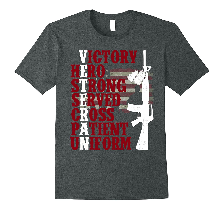 America Soldier Veteran – American Flag – Gun Tee Shirt
