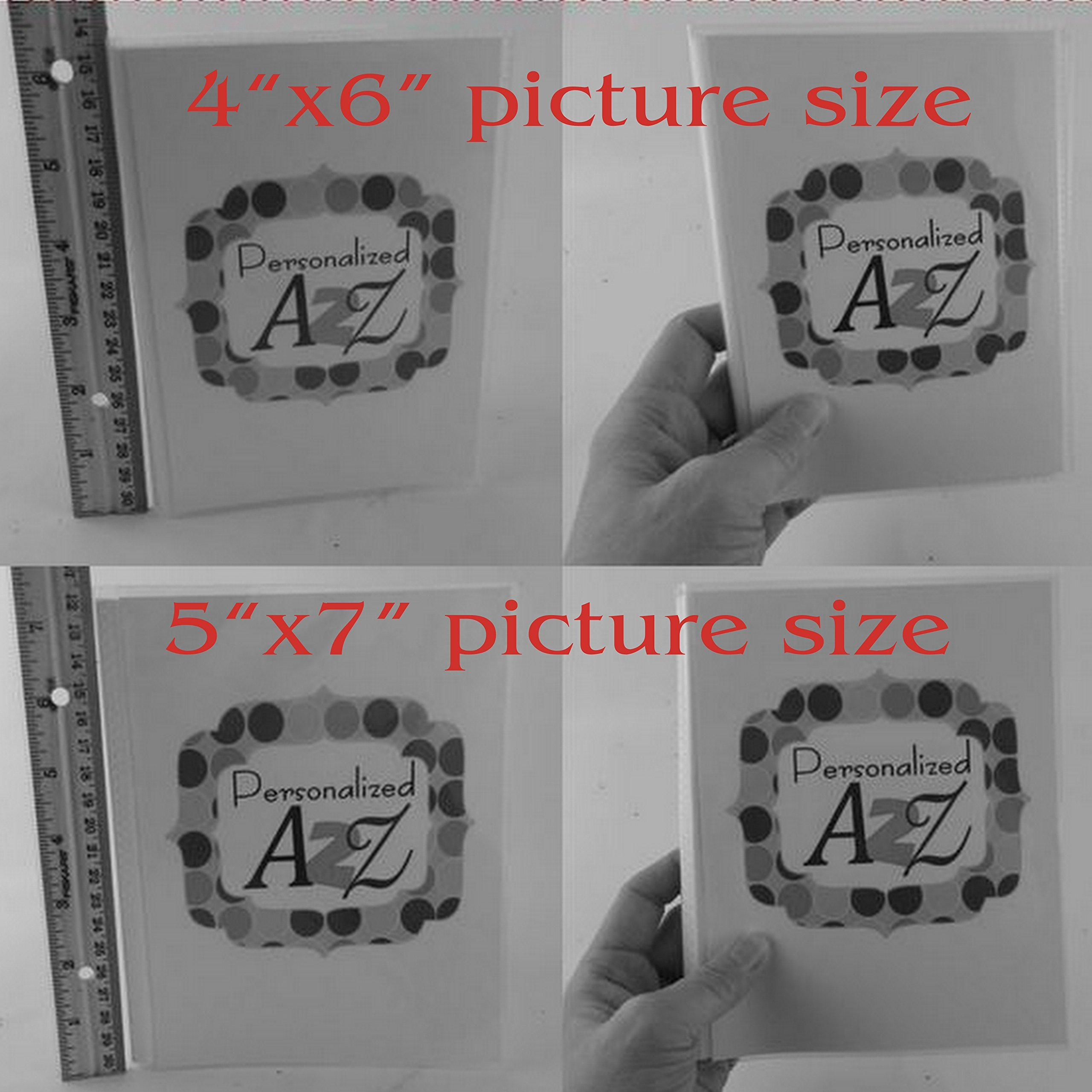 Boy Photo Album . 066. 4x6 or 5x7 picture album, Personalized Baby photo Book. navy chevron