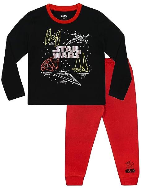 Star Wars Pijamas de Manga Larga para Niños La Guerra de Las Galaxias