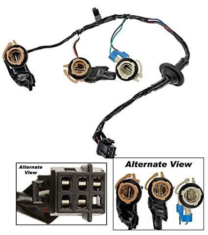 amazon com apdty 034126 tail lamp light wiring harness bulb apdty 034126 tail lamp light wiring harness bulb connector fits rear left or right on 2000