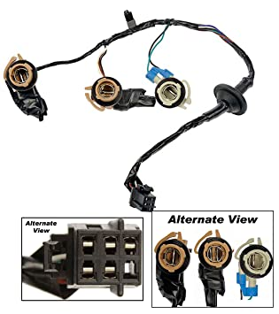 apdty 034126 tail lamp light wiring harness bulb connector fits rear left or right on 2000 2002 chevrolet express or gmc savana 1500 2500 3500 van  gmc tail light wiring connector #7