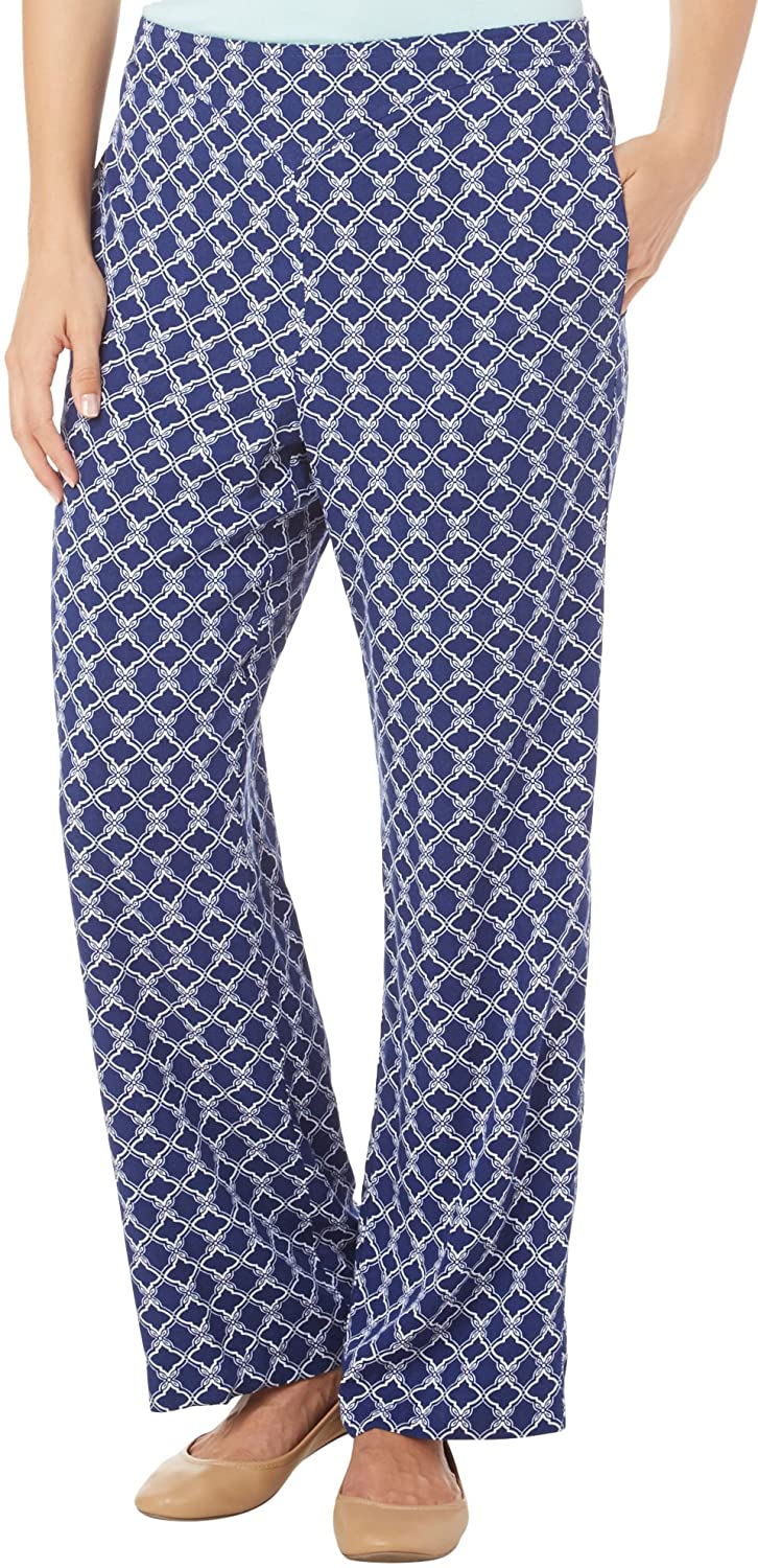 Catalina Island Print Medallion Pants in Multi By Alfred Dunner