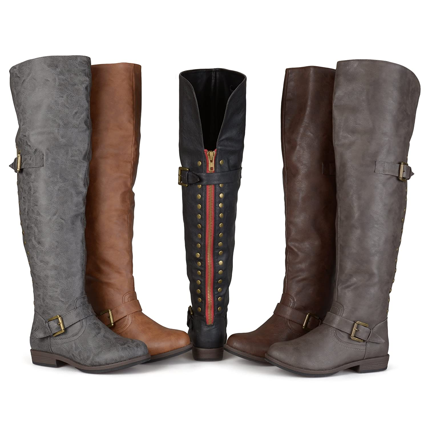 Women's Sugar Over the Knee Studded Buckle Boots - DeluxeAdultCostumes.com