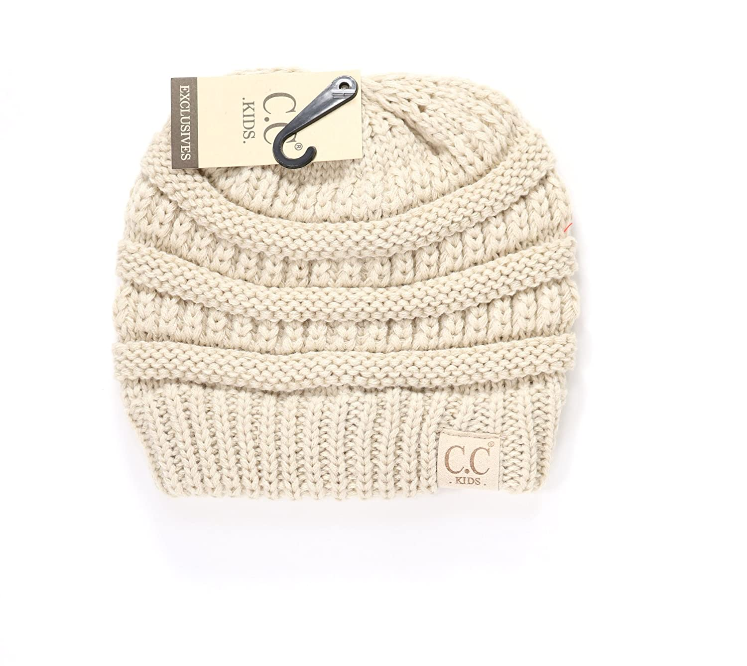 Crane Clothing Co. Women s Kids Solid CC Beanie One Size Beige at Amazon  Women s Clothing store  298e35df484