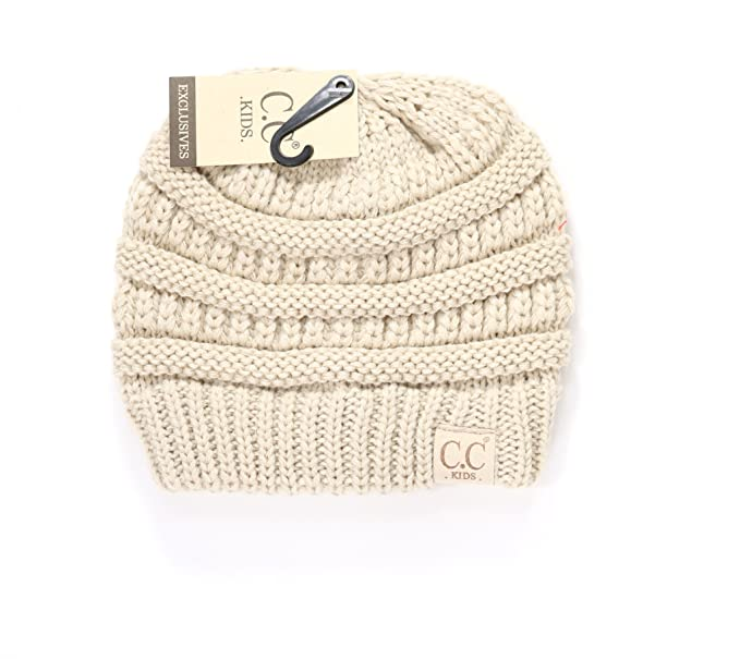 3478730c72e47 Crane Clothing Co. Women s Kids Solid CC Beanie One Size Beige at ...