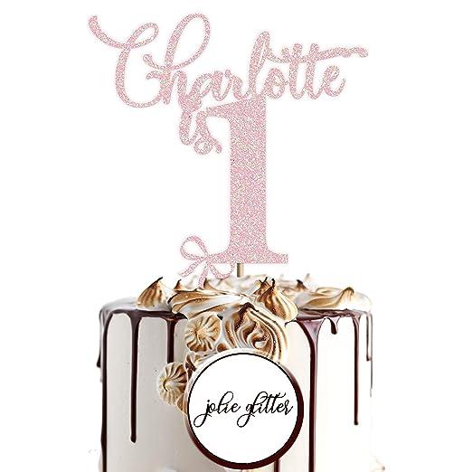 Decoración para tarta personalizable para primer cumpleaños ...