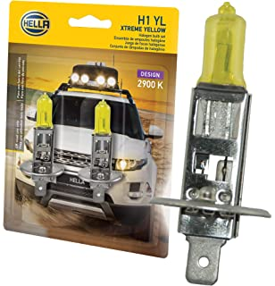 HELLA H1 Yellow-55W YL Xtreme Yellow Bulbs, 12V, 55W 2 Pack