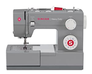 Singer | Heavy Duty 4432 Sewing Machine with 32 Built-In Stitches, Automatic Needle Threader, Metal Frame and Stainless Steel Bedplate, Perfect for Sewing All Types of Fabrics with Ease