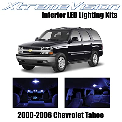 Xtremevision Interior LED for Chevy Tahoe 2000-2006 (18 Pieces) Blue Interior LED Kit + Installation Tool: Automotive