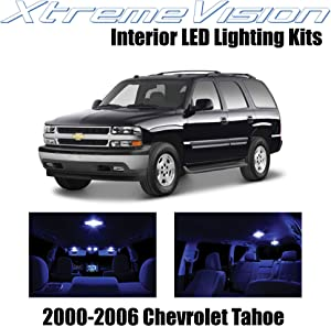 Xtremevision Interior LED for Chevy Tahoe 2000-2006 (18 Pieces) Blue Interior LED Kit + Installation Tool