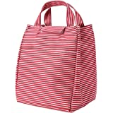 "Lunch Bag Red 9.44""x7.67""x7.08"" Large Capacity Lunch Bags for Women Foldable Lunch Bag Lunch Box Velcro Closure"