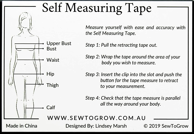 Sew To Grow SELFMEASUREINGTAPE Self Measuing Tape Measure