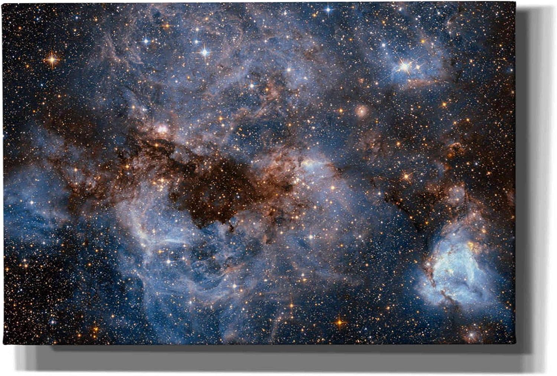 12 x 18 Blue Epic Graffiti Maelstrom Cloud Hubble Space Telescope Giclee Canvas Wall Art