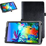 """Bige Case for LG G Pad 5 10.1 Case,PU Leather Folio 2-Folding Stand Cover for 10.1"""" LG G Pad 5 10.1 T600 Tablet(2019),Black"""