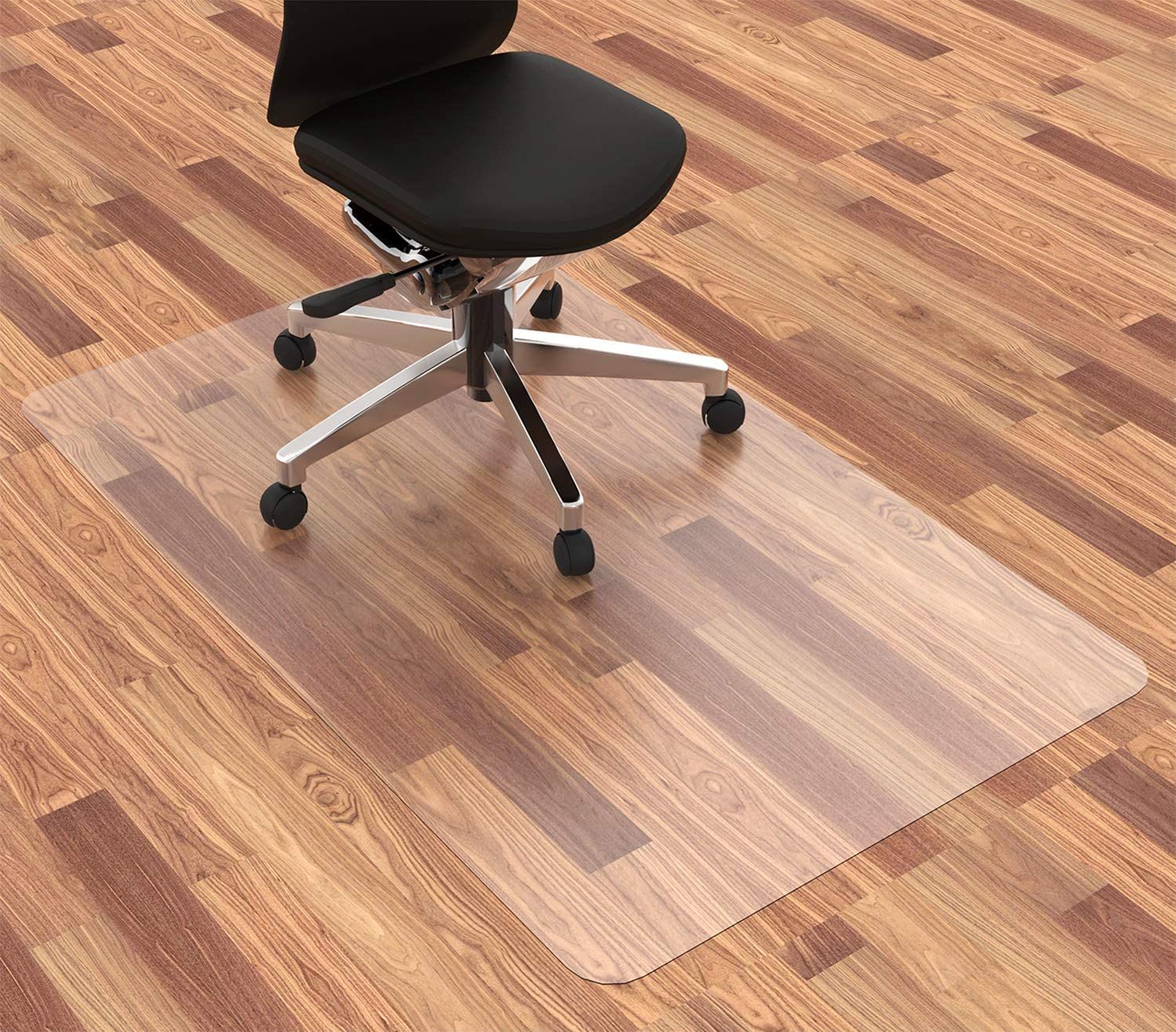 Homek Office Chair Mat for Hardwood Floor, 48 x 30 Inches Desk Chair Mat for Hard Floor, Easy Glide for Chairs: Kitchen & Dining