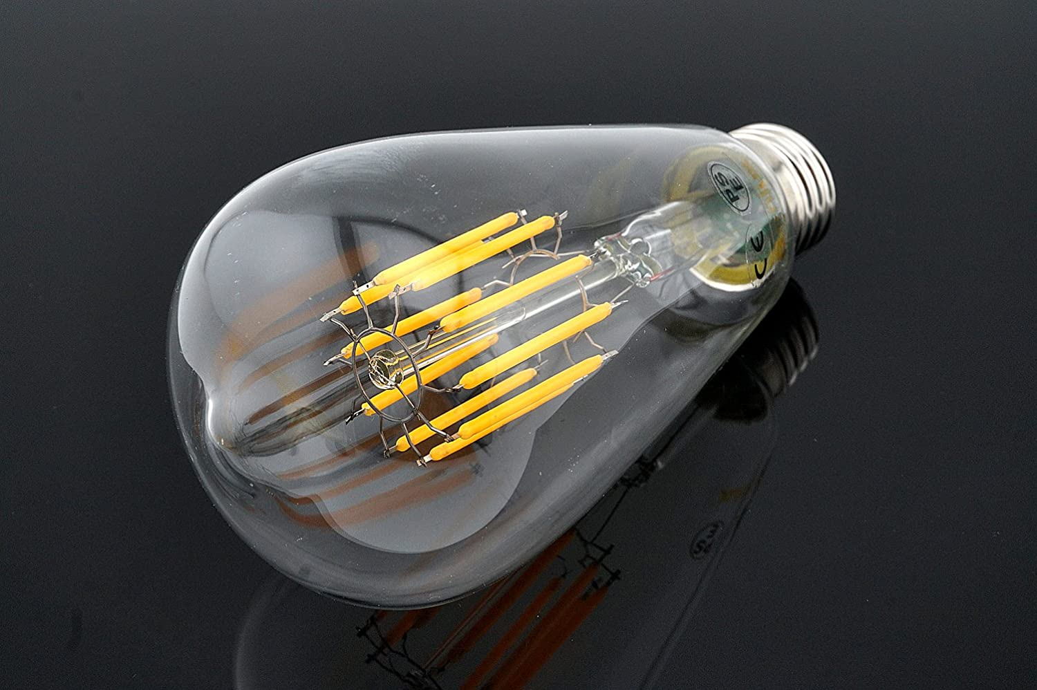 3 pack 10w st64 e27 led long filament bulb edison screw es led squirrel cage antique bulb 100w. Black Bedroom Furniture Sets. Home Design Ideas