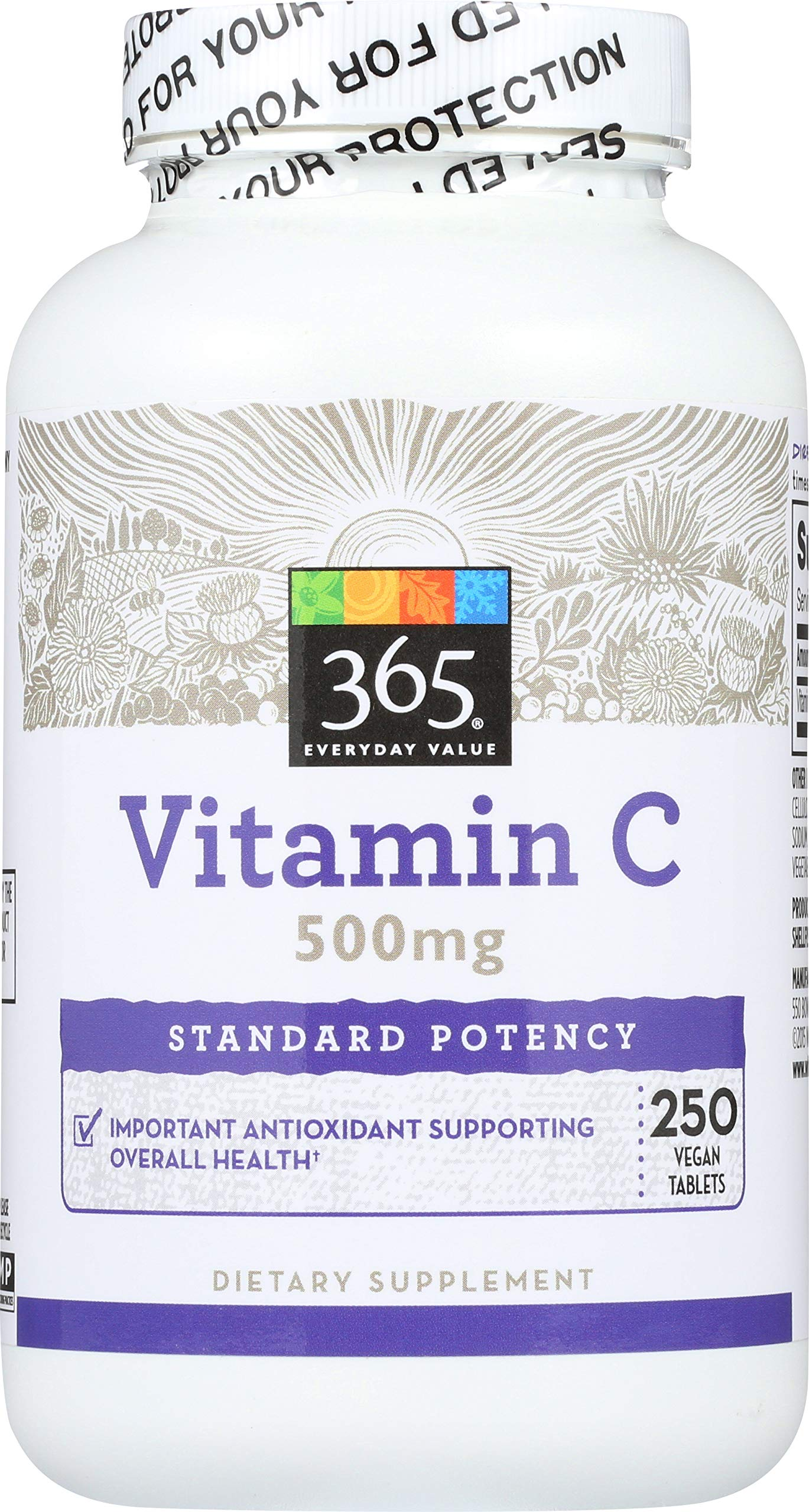 365 Everyday Value, Vitamin C 500mg, 250 ct