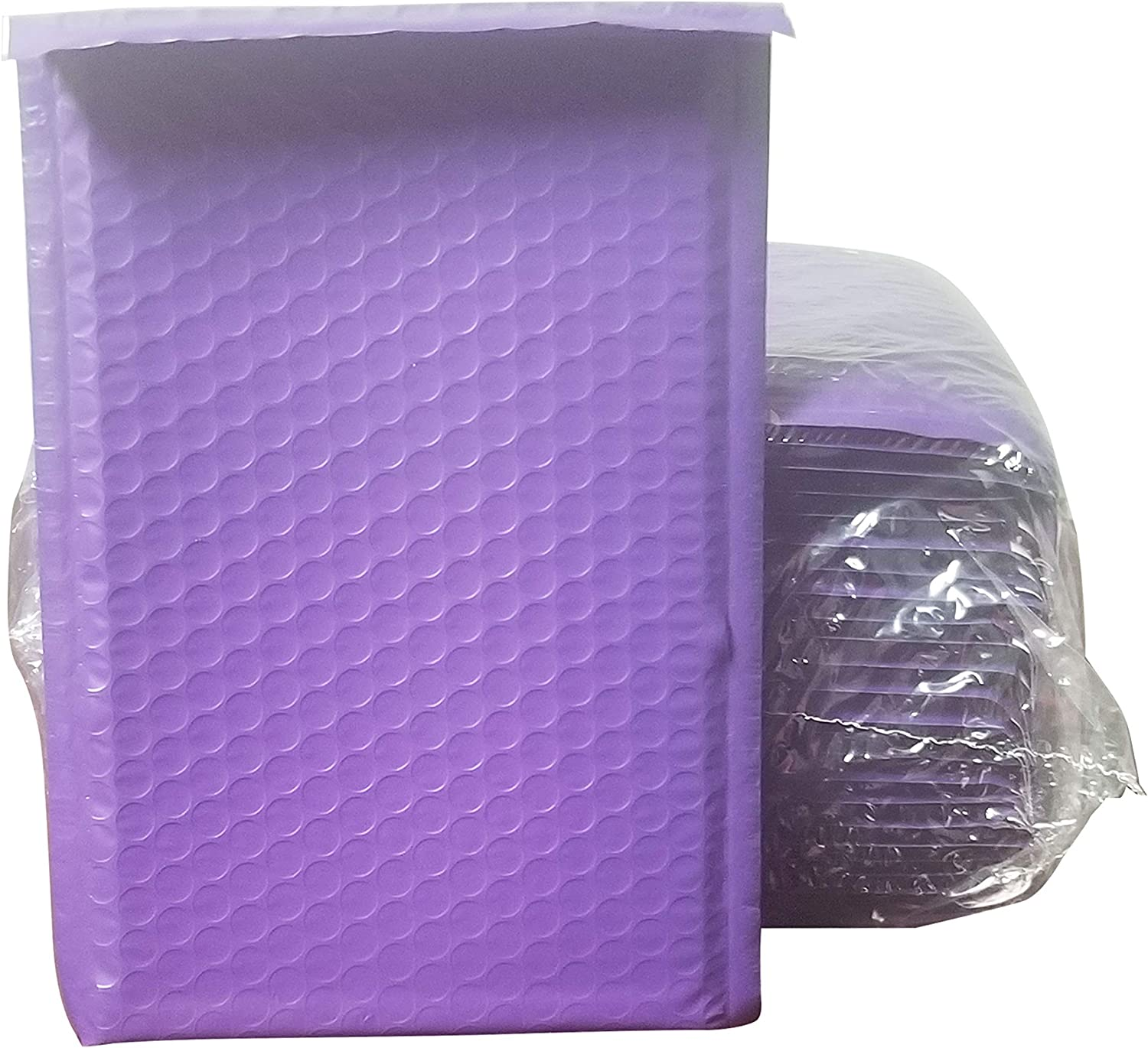 BMP 6x10 Inches Poly Bubble Mailers Self Seal Purple #0 Padded Envelopes Waterproof Envelopes Pack of 50